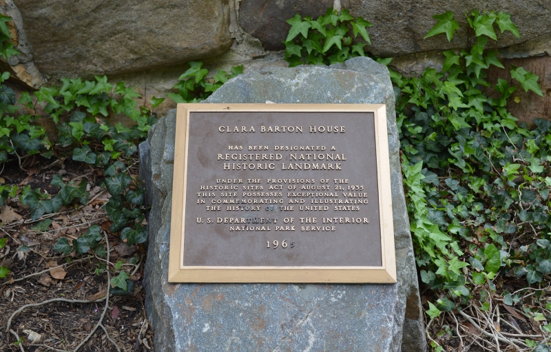 Clara Barton House placa