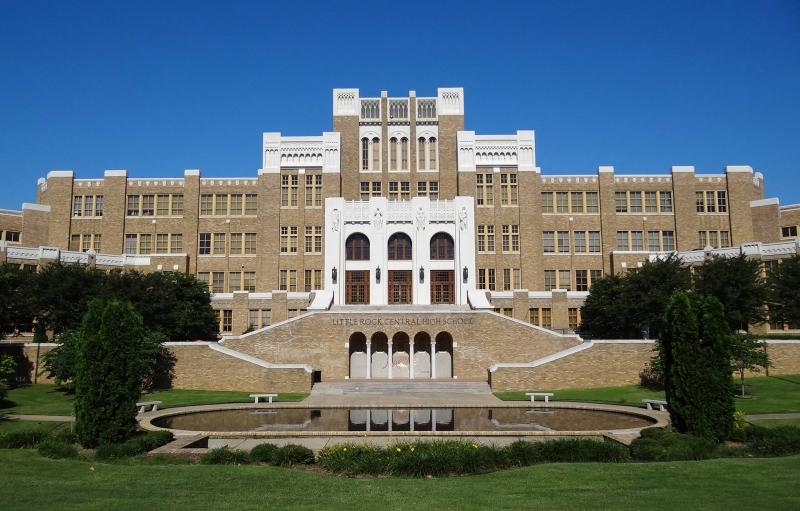 Front of Central High School in Little Rock, Arkansas