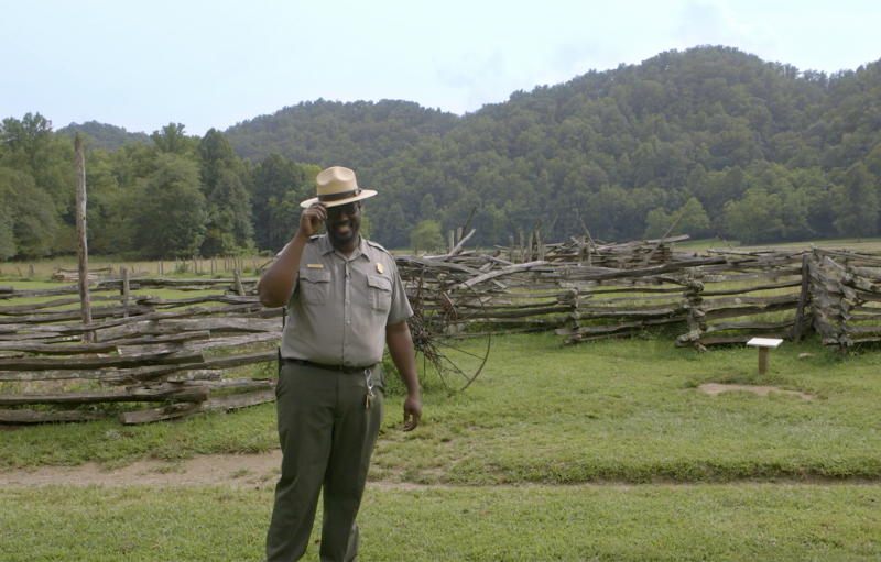 Michael Smith, coordinador del museo Mountain Farm en el Parque Nacional Great Smoky Mountains
