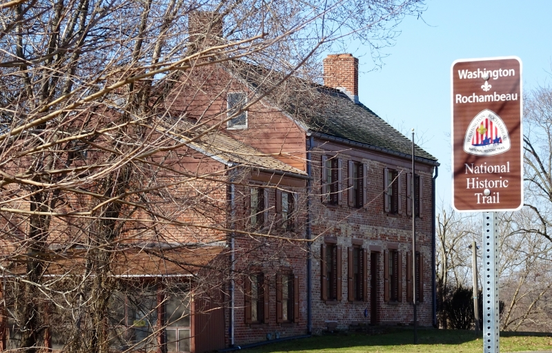 The Van Veghten House in Finderne, New Jersey, along the Washington-Rochambeau Revolutionary Route National Historic Trail