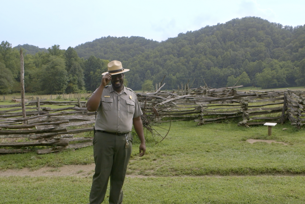 Mountain Farm Museum Coordinator Michael Smith at Great Smoky Mountains National Park