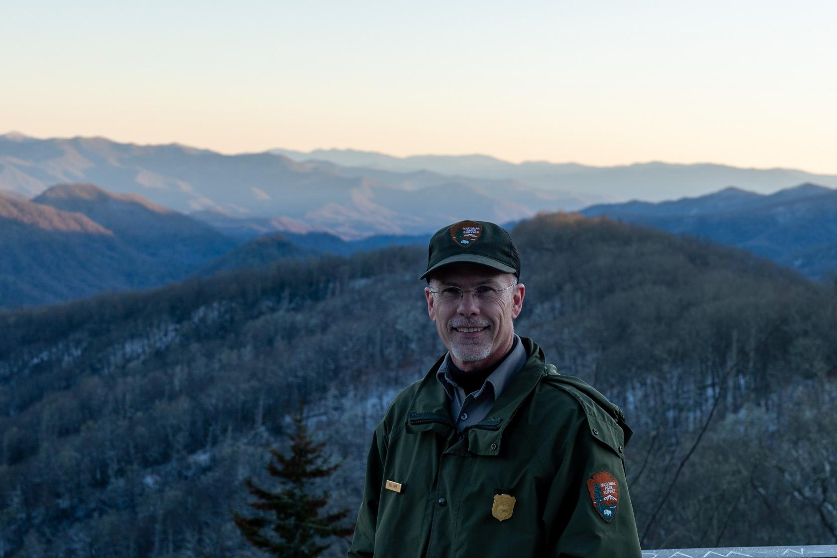 Bill Stiver en el Parque Nacional de las Grandes Montañas Humeantes
