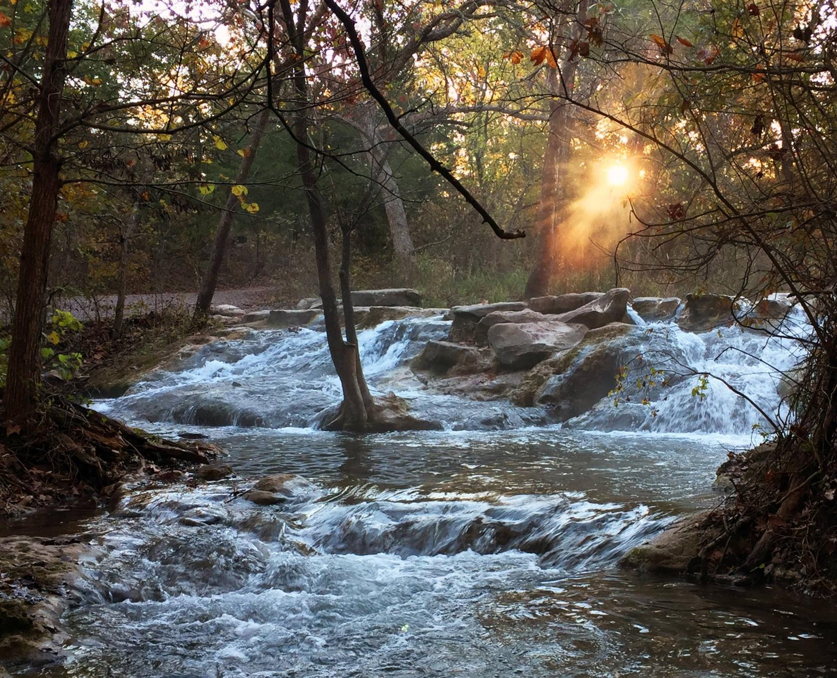 Little Niagara falls at Chickasaw National Recreation Area