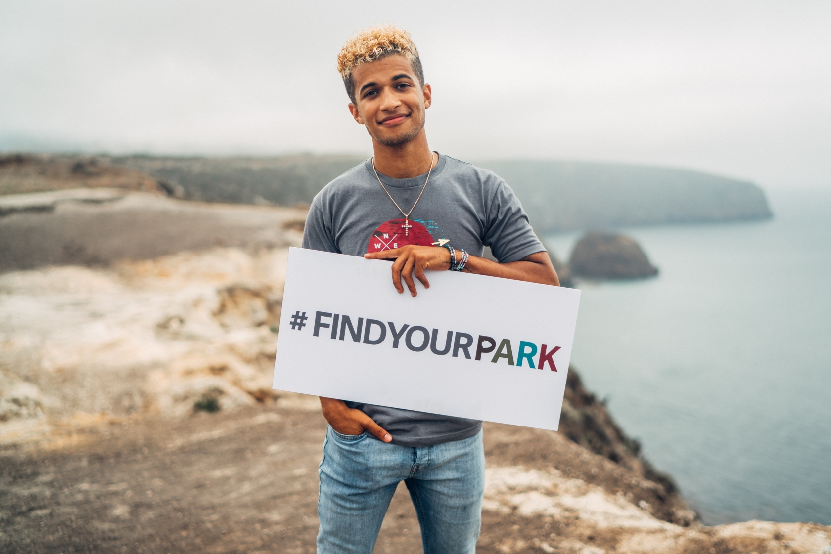 Jordan Fisher en el Parque Nacional Channel Islands