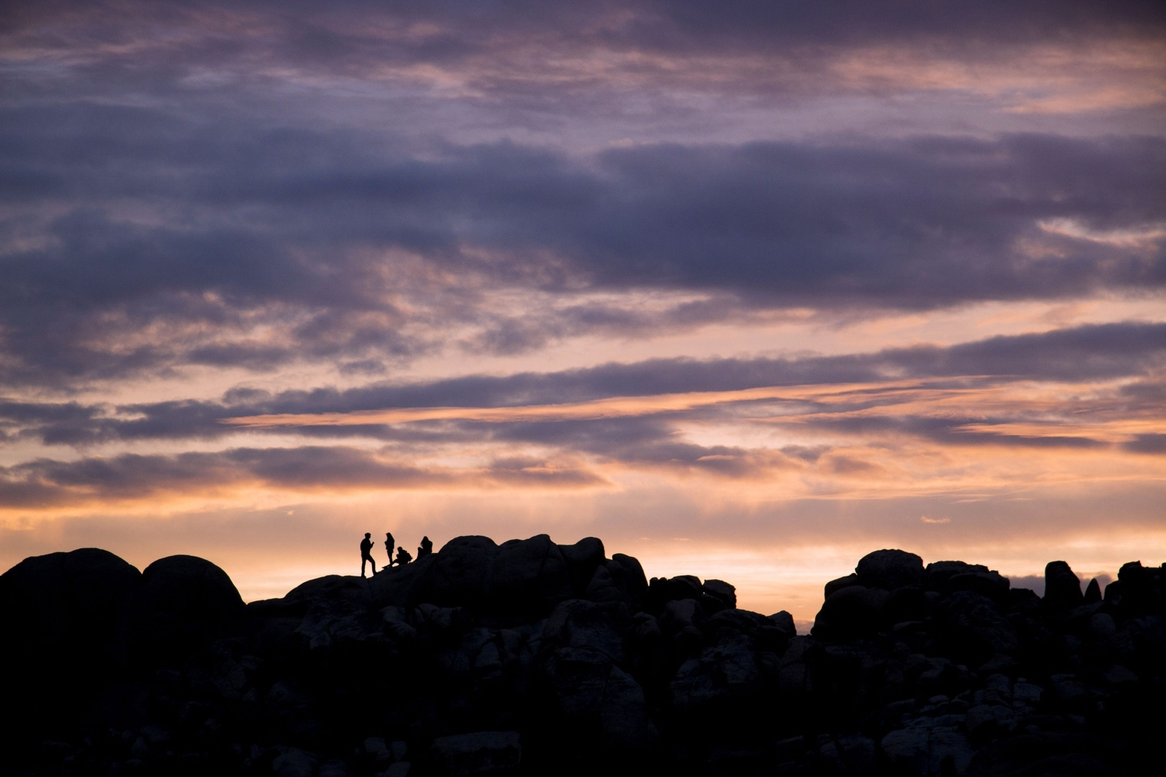 Taking in the sunset at Joshua Tree National Park