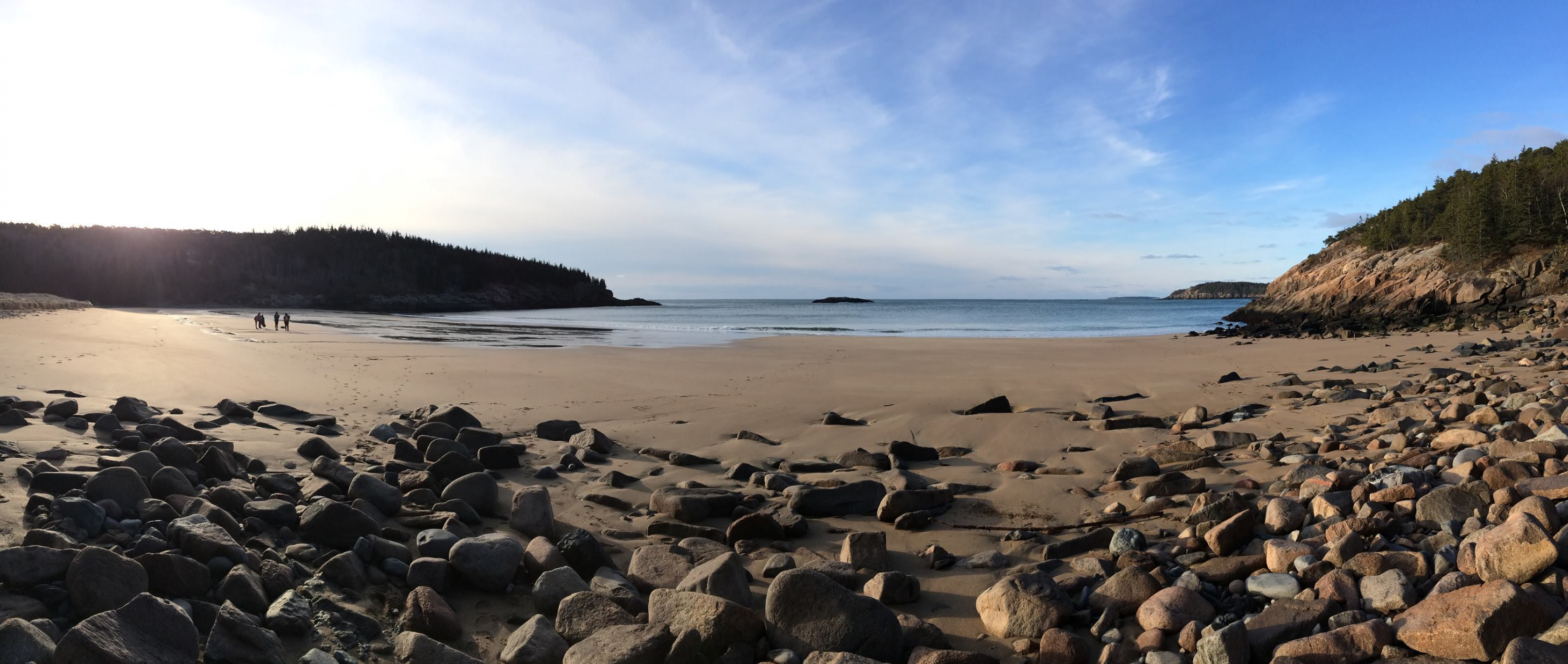 A beach in Acadia National Park in Maine.