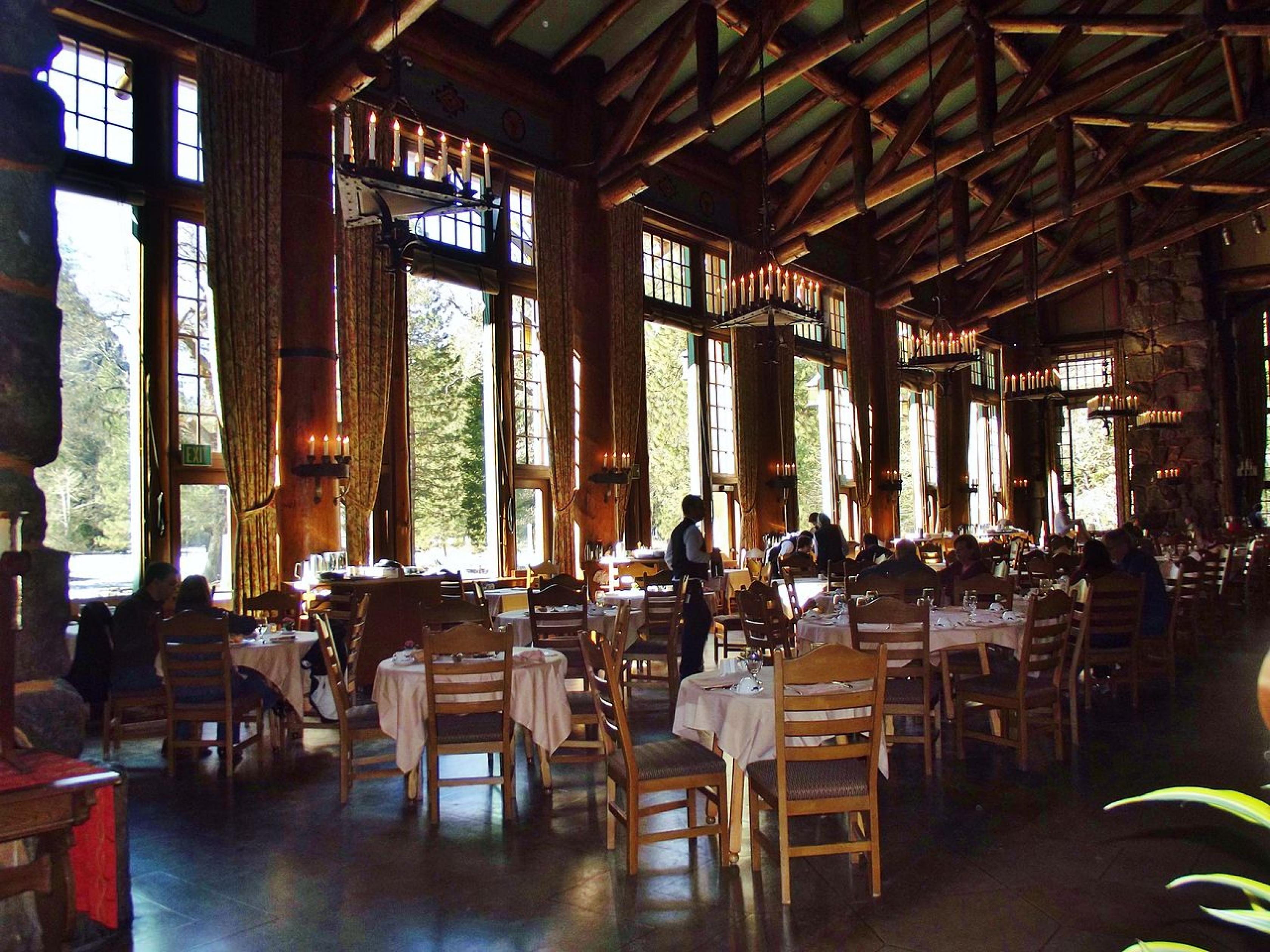 Ahwahnee Dining Room at Yosemite National Park.