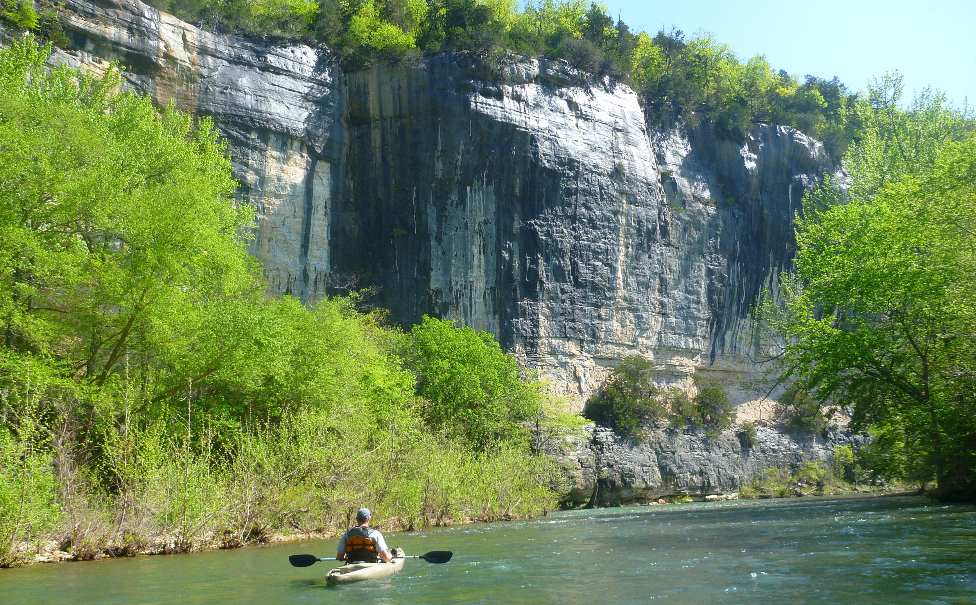 Man kayaking down the Buffalo National River