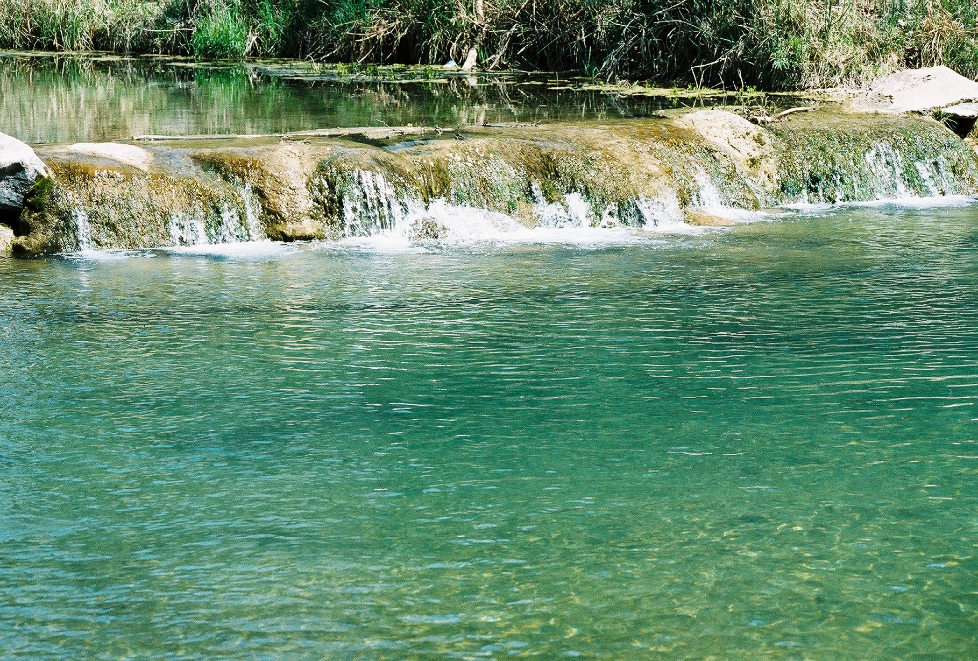The Travertine Creek is a great swimming hole in Chickasaw.