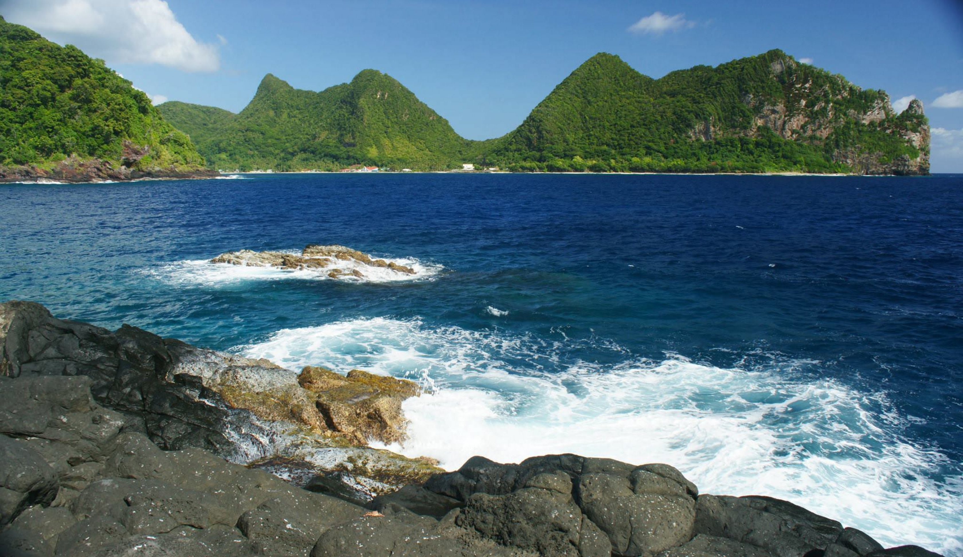 The beach at American Samoa National Park is beautiful.