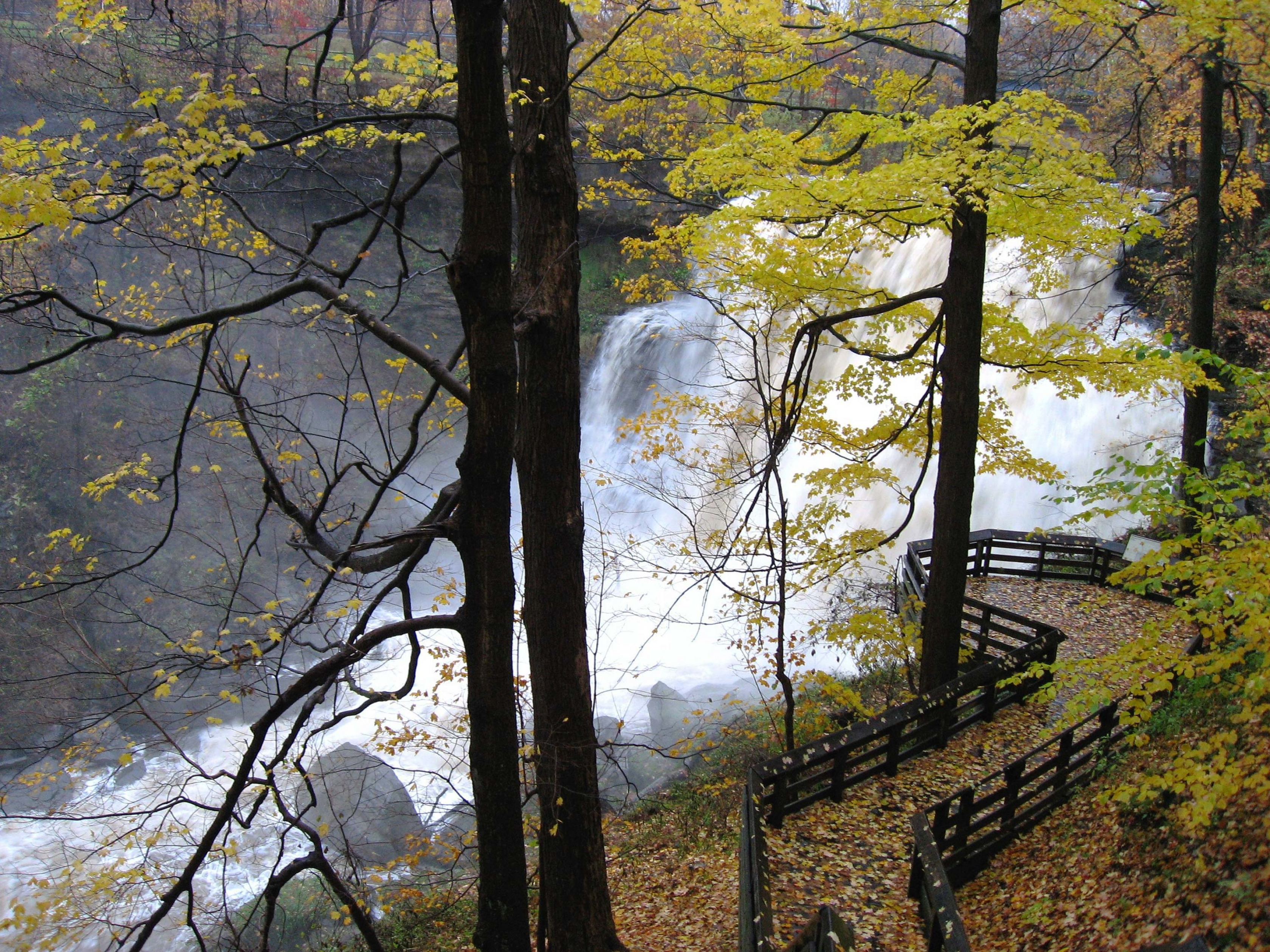 Brandywine Falls is a waterfall in Cuyahoga Valley.