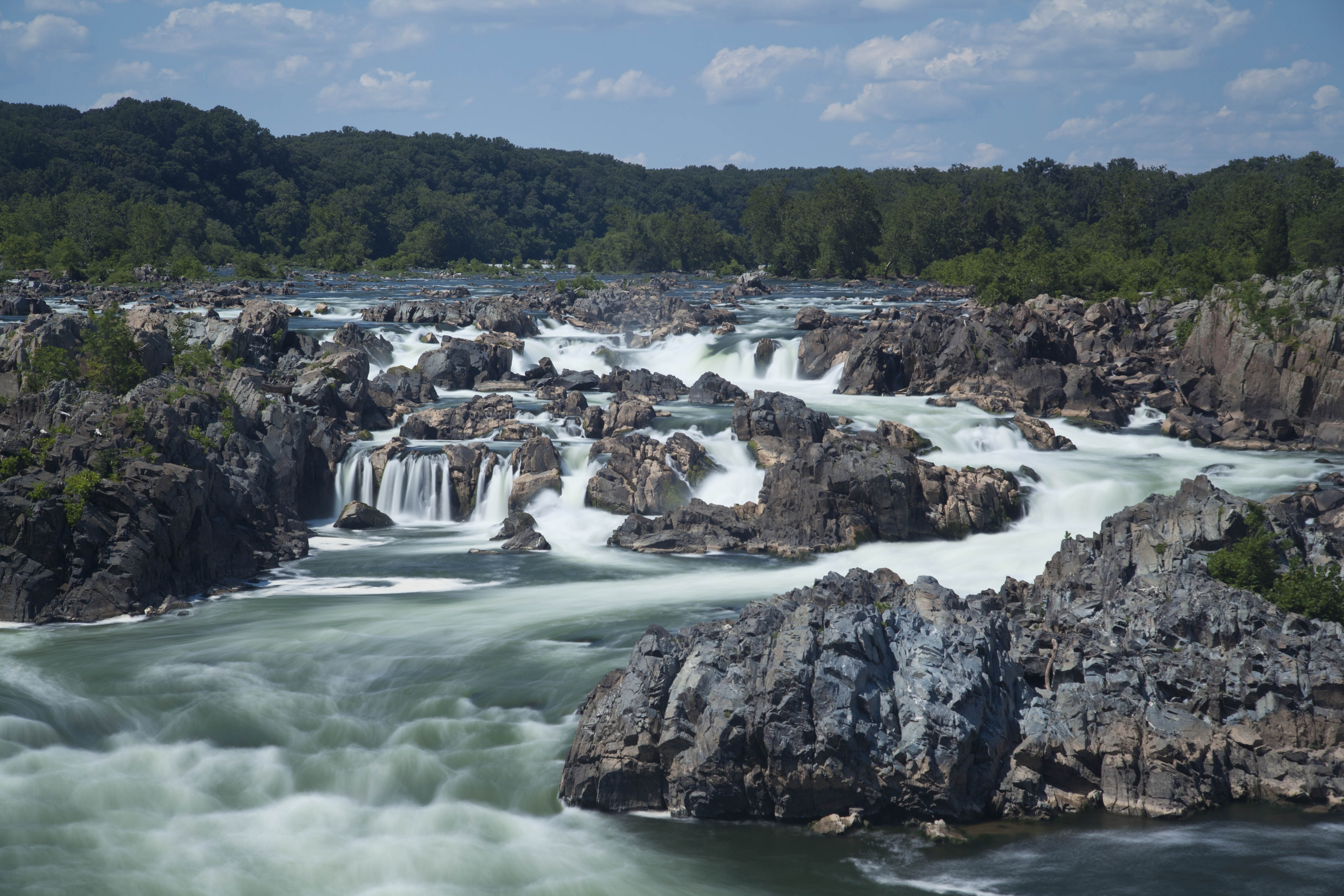 Parque Nacional Great Falls fuera de Washington, DC.