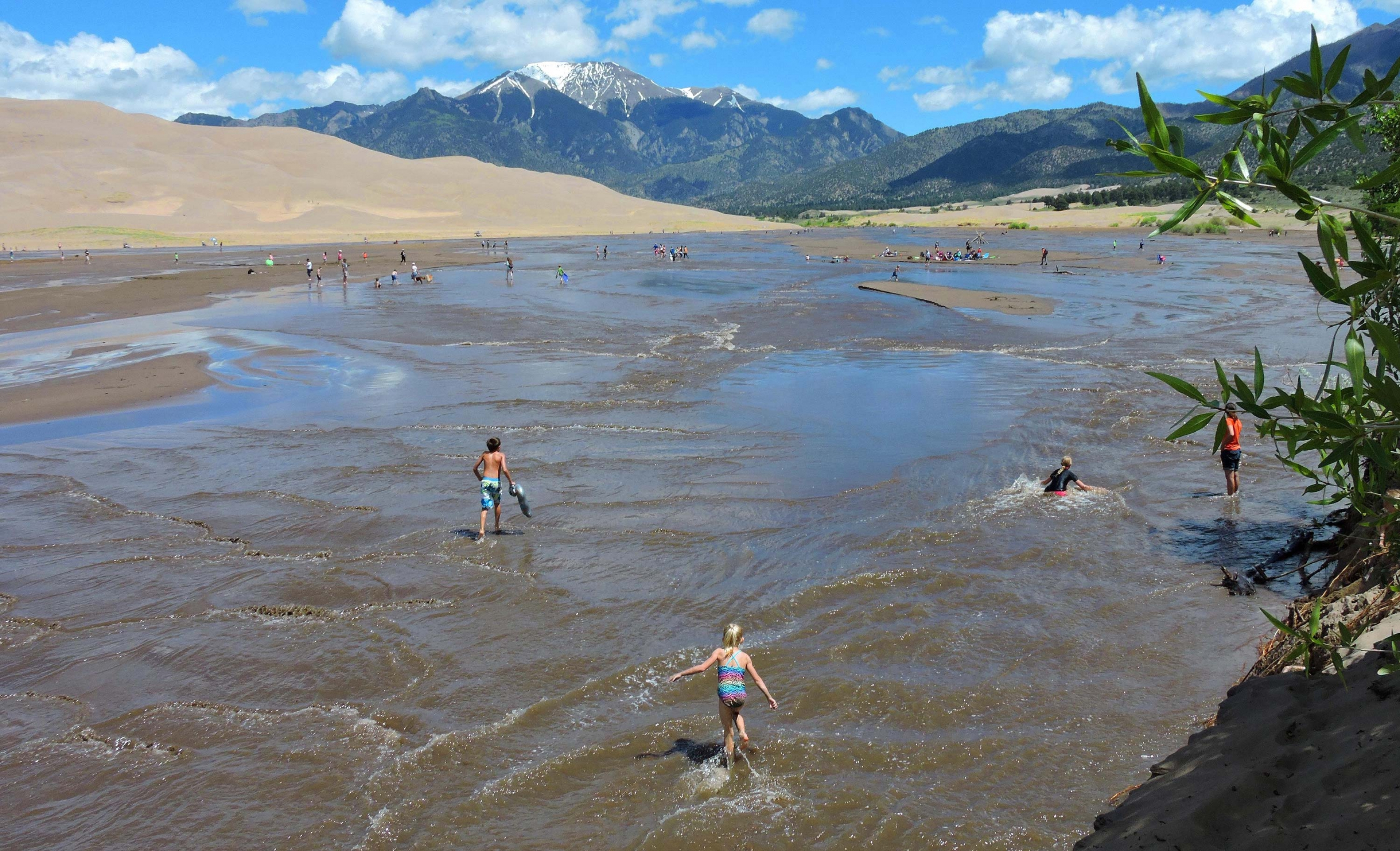 Medano Creek is a great spot for kids to swim in Colorado.