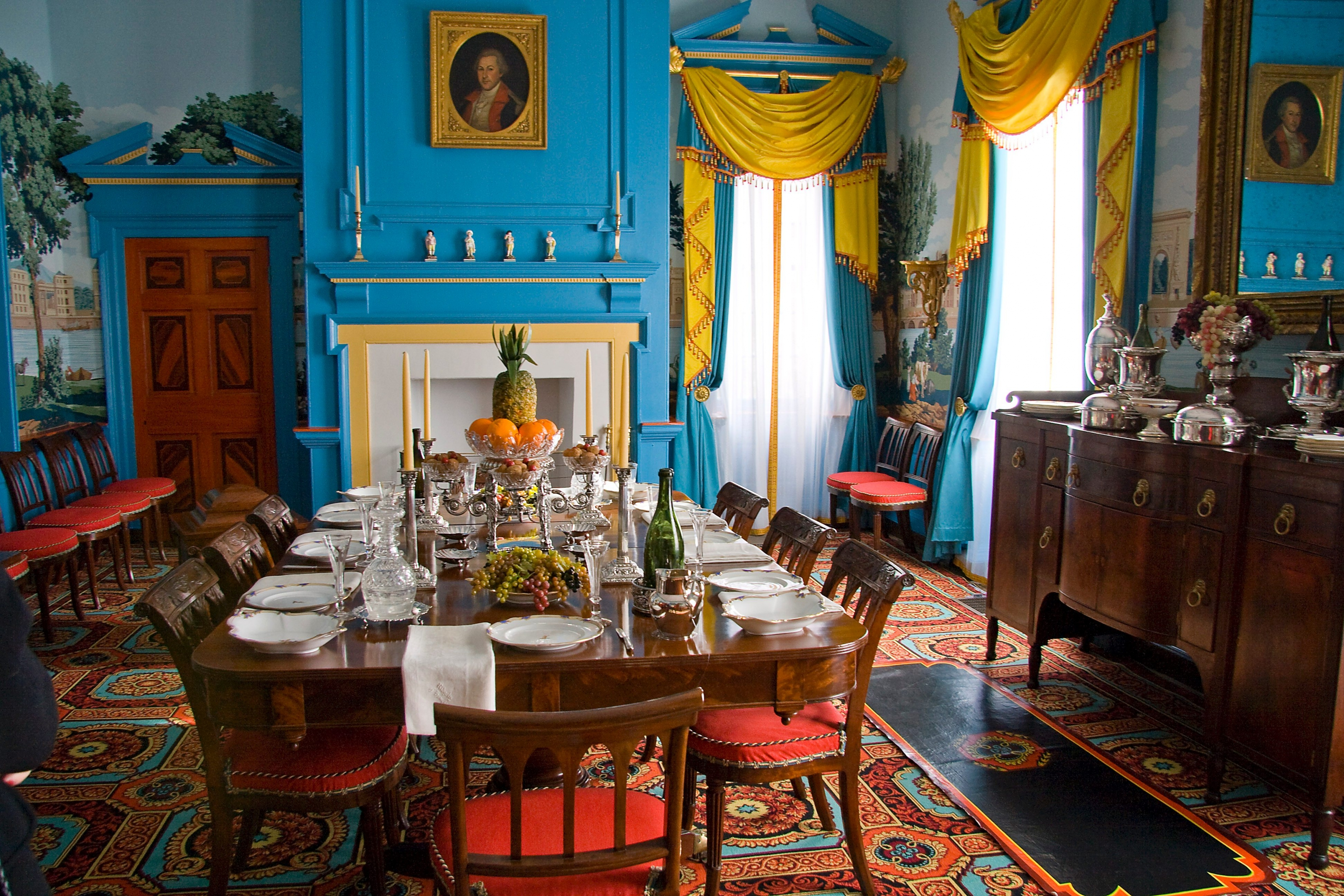 The dining at the mansion at Hampton National Park.
