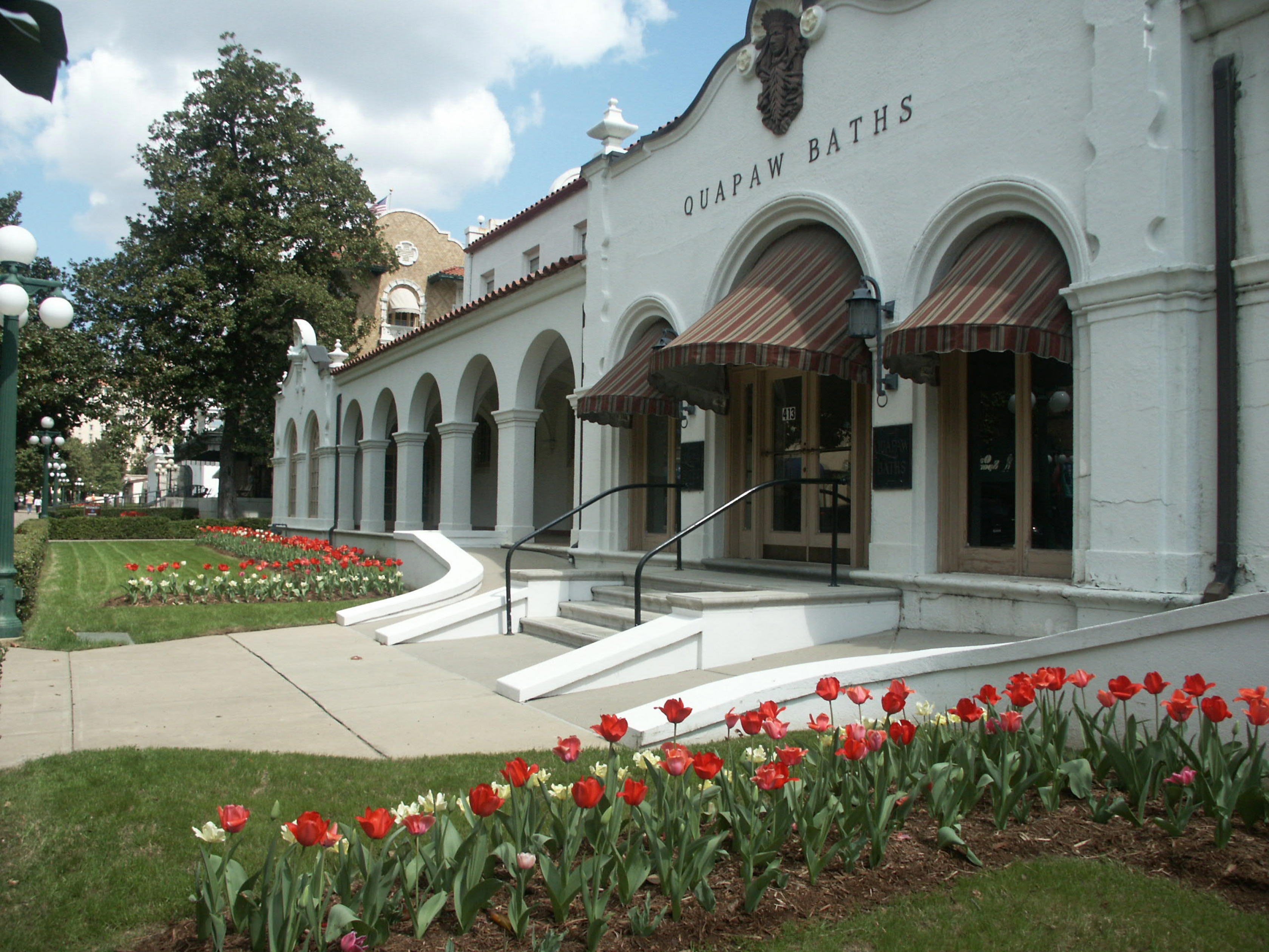 The baths at Hot Springs National Park.
