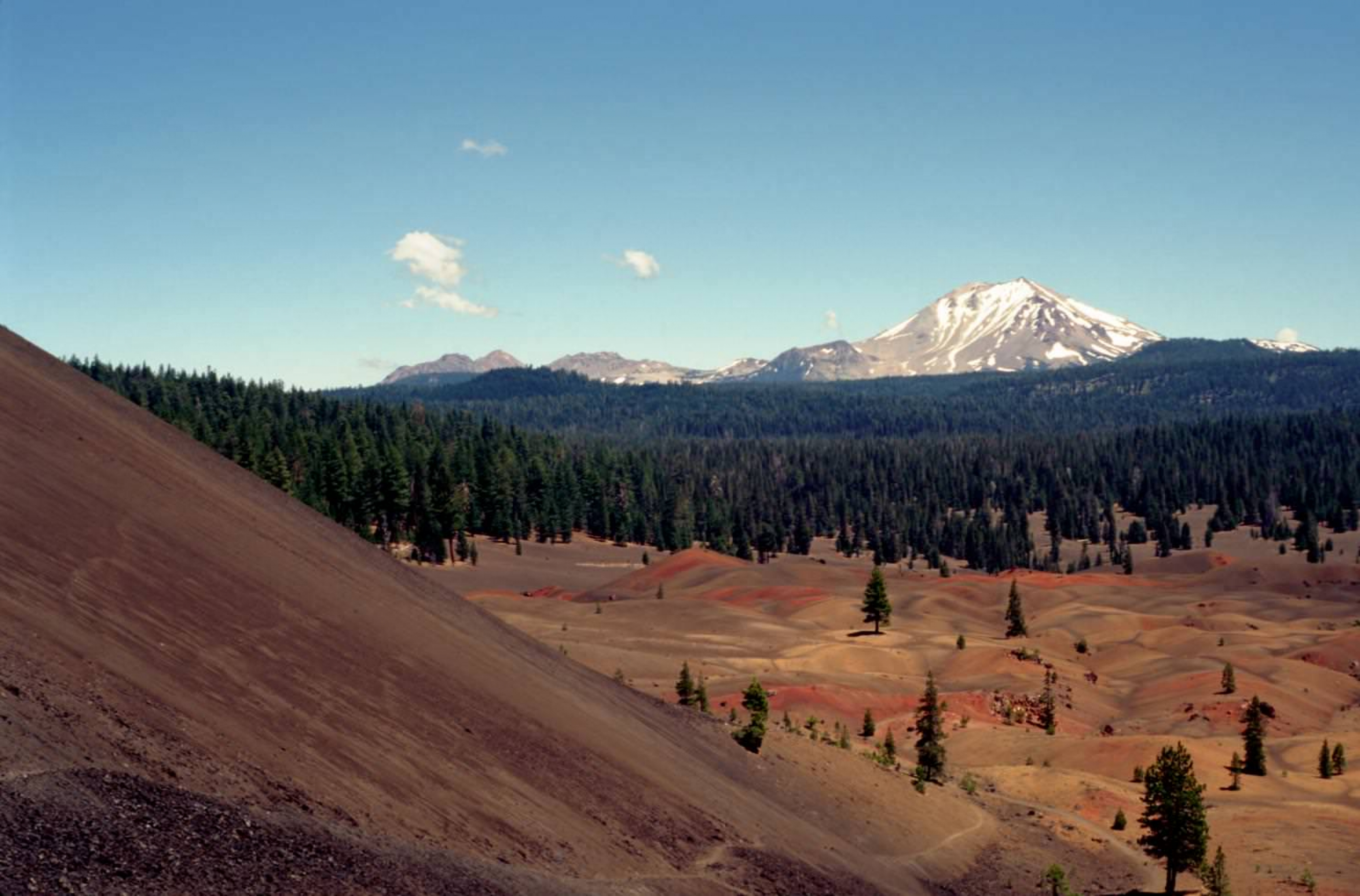 Cinder Cone Painted Dunes at Lassen National Park.