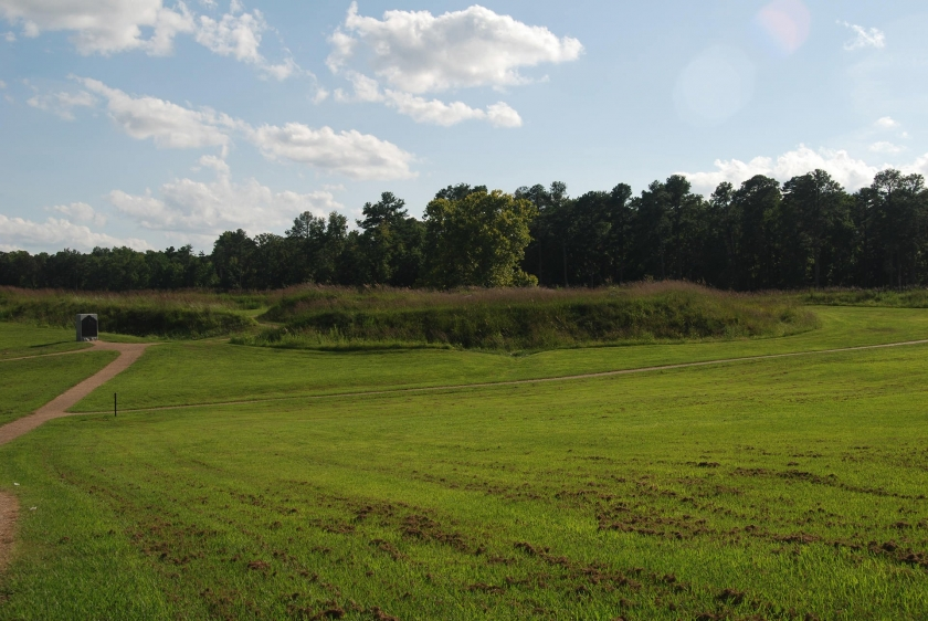 Petersburg National Monument park and grassy plain