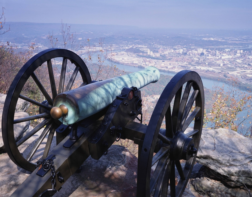 Cannon sitting over a cliff