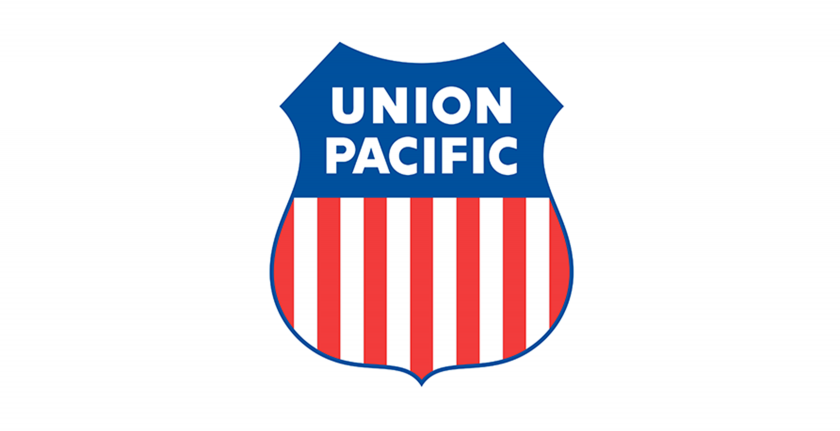 union pacific logo on white