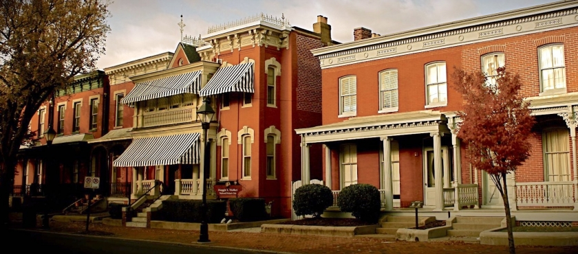 Red brick buildings of Maggie L Walker National Historic Site