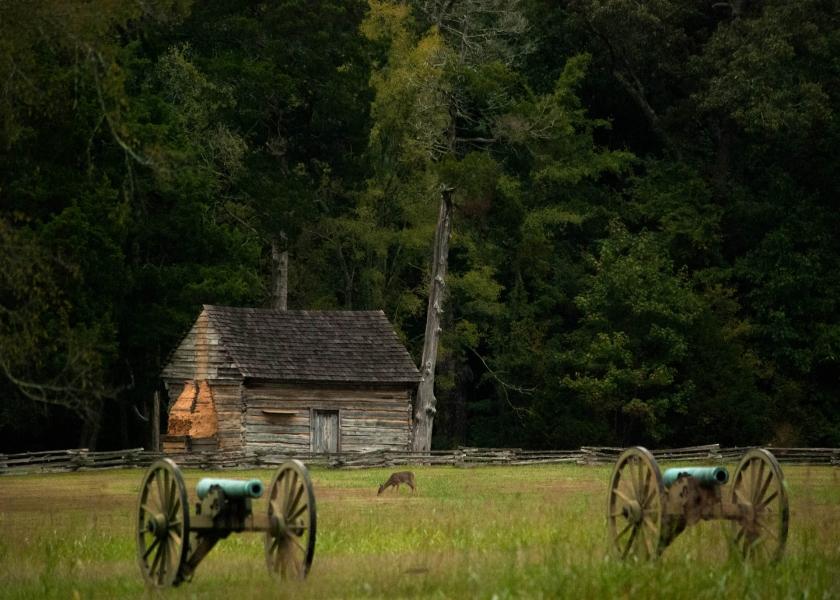 Cabaña en Shiloh National Military Park
