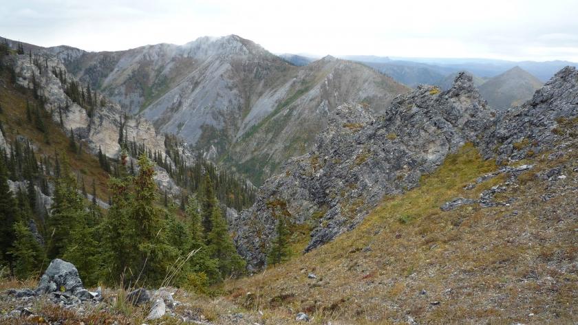 Imagen de la Cordillera de la india del Parque Nacional de Yukon